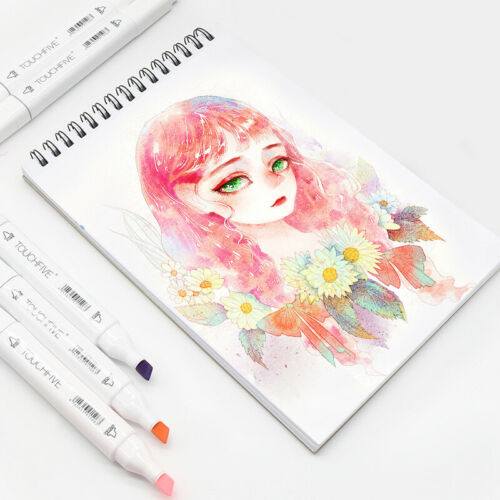 1Pcs Random Single Art Markers Brush Pen Sketch Alcohol Based Markers Dual Head
