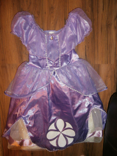 Disney Store Sofia the First Royal Gown Purple size 7/8 Dress up Costume