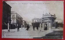 Taranto 1918 Cartolina Viaggiata Via Margherita ed Edicola Francesco di Chilairo