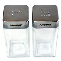 Salt And Pepper Glass Shakers Stainless Steel Tops Lid Home Restaurant Shaker