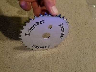 New Chrome lowrider bicycle sprocket with logo 36 tooth