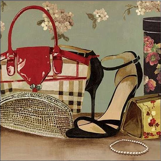 Aimee Wilson  My New Purse Keilrahmen-Bild Leinwand Mode Fashion Style High Heel