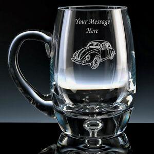 1 Pint Tulip Beer Glass With Volkswagen Beetle Design