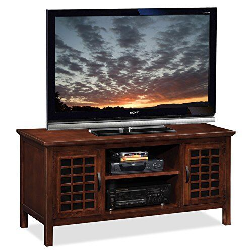 Leick Furniture Riley Holliday Chocolate And Black Glass 50 Inch