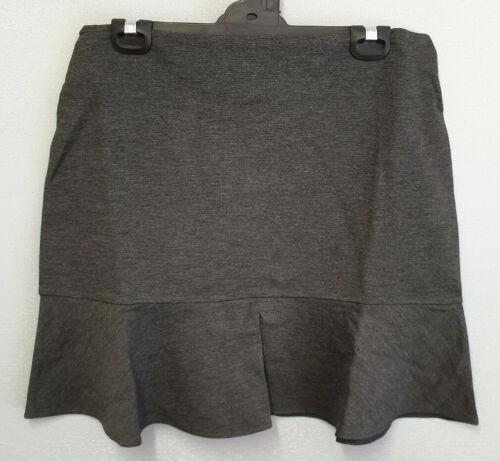 BNWT Ladies Sz L 14 Mix Brand Pretty Charcoal Soft Stretch Flounce Skirt