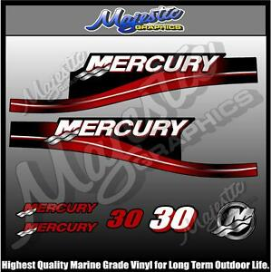 MERCURY 30 hp OUTBOARD DECAL SET