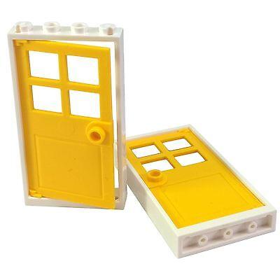 6 NEW LEGO Door Frame 1 x 4 x 6 Type 2 White