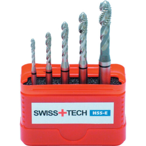 Swisstech M3-M8 Hss-Cobalt Black Ring Sp//Fl Din371 Tap Set