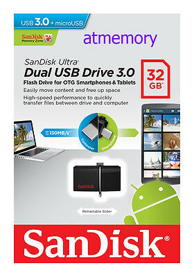 Sandisk Ultra Dual 16GB 32GB 64GB OTG 3.0 Micro USB Drive Flash Pen for Android