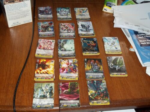 assorted Cardfight Vanguard cards