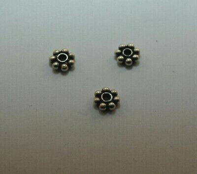 DIY Vintage Schmuck 925 Silber Zwischenteile Spacer Perlen Altsilber Charms
