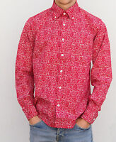 Men's Paisley Classic Shirt Button Down Collar, Purple, Red or Black Size S-2XL