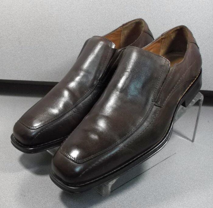 206240 MS50 Chaussures Hommes Taille 8 M En Cuir Marron À Enfiler Johnston & Murphy