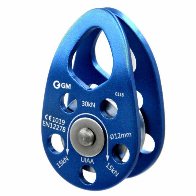 GM CLIMBING UIAA Certified 30kN Swing Cheek Micro Pulley Blue General Purpose