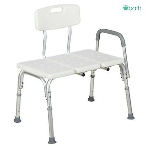 Adjustable 10 Height Medical Shower Bench Chair Bath Tub Stool ...