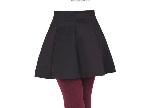 Woman Skater Mini Skirt Plain Flared Pleated A-Line Short Plus Size  2xl 3XL 4xl