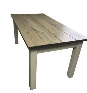 Image Is Loading Drifwood Grey Harvest Table Rustic Harvest  Farmhouse Kitchen