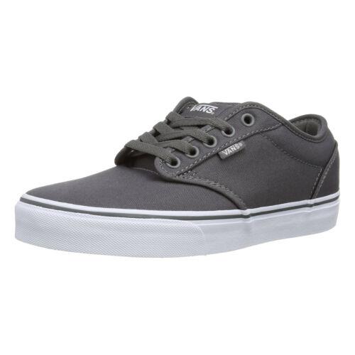 Lona Cordones Zapatos De Blanco Vans Skater Hombre Zapatillas Liso Atwood Gris 0wx8Oxt