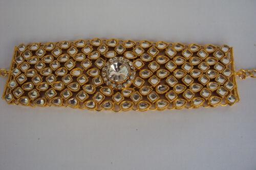 Kundan Indian Bollywood Fashion Designer main Bracelet chaîne à main hand piece