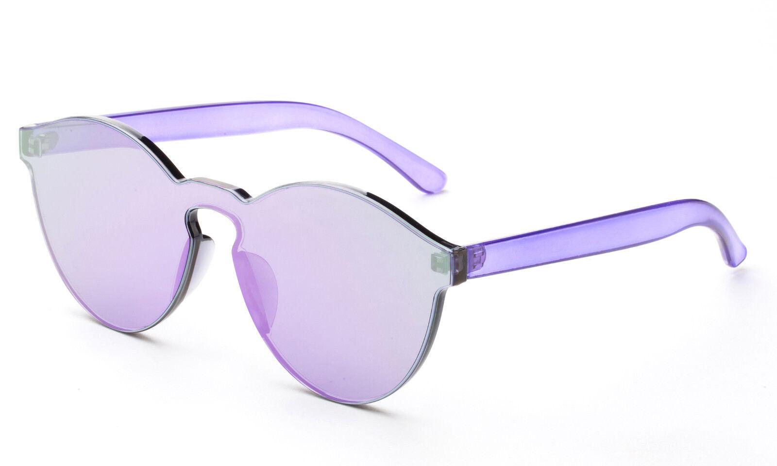 Cat Eye Sunglasses Transparent Eyewear Candy Sun Shades Luxury Purple UV 100%