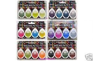 Details About Tsukineko Memento Dew Drop Lot Of 24 Dye Pads 6 Sets Of 4 Ink Pads