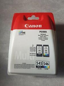 Pack de 2 cartouches d'encre d'origine Canon PG-545 / CL-546 (Noir + Couleur)