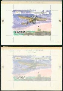 Uganda-1987-500s-1911-Coronation-Aerial-Post-monoplane
