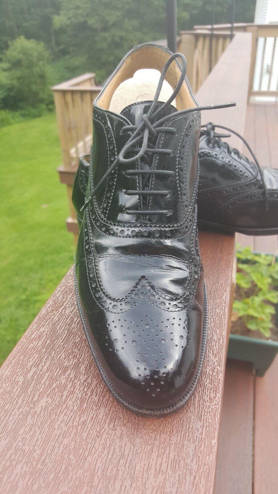 Hand Made Gravati par niehomme MARCUS en CUIR noir cravate-up Oxford Chaussures 8.5 US