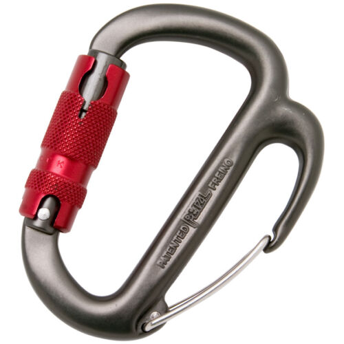 (CARABINER WITH FRICTION SPUR)MOSCHETTONE FREINO  PETZL PER ALPINISMO
