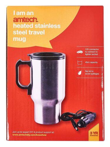Heated Stainless Steel Travel Mug