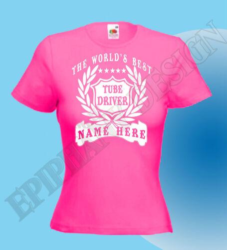 Tube Driver T-Shirt Personalised Add Name Great Gift Bespoke Customised London