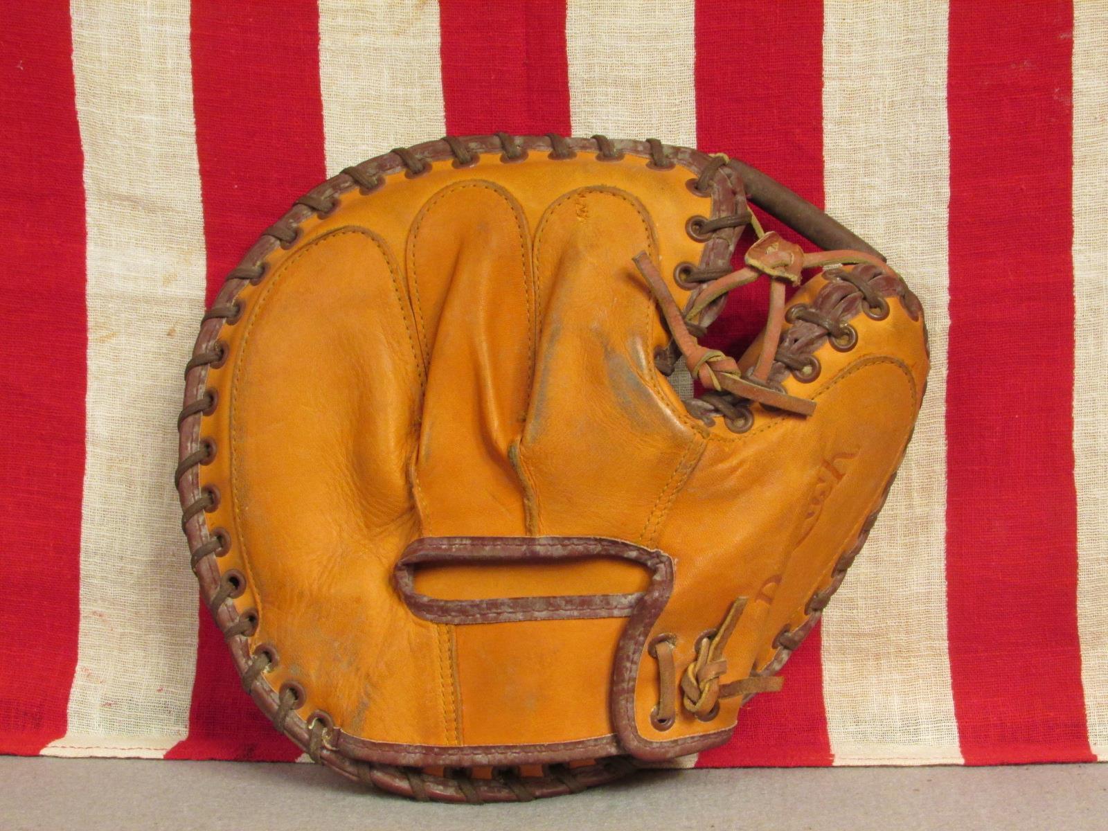 Vintage 1950s Reichweite Leder Baseball Handschuh Fanghandschuh Fanghandschuh Handschuh Champion 2455 57312e