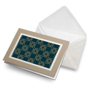 Greetings-Card-Biege-Green-Art-Deco-Geometric-Fun-2454