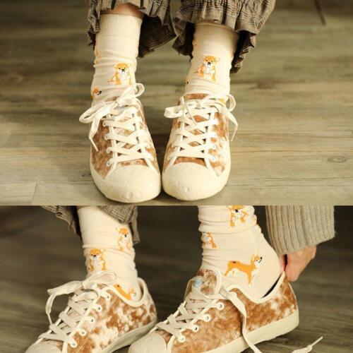 Frauen-nettes Haustier Shiba Inu Crew Socks-Haustier-Baumwolle gekämmt