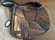 """SELLERIA FENDI borsa """"Ostrik bag"""" puzzle legno/animalier brown LIMITED EDITION"""