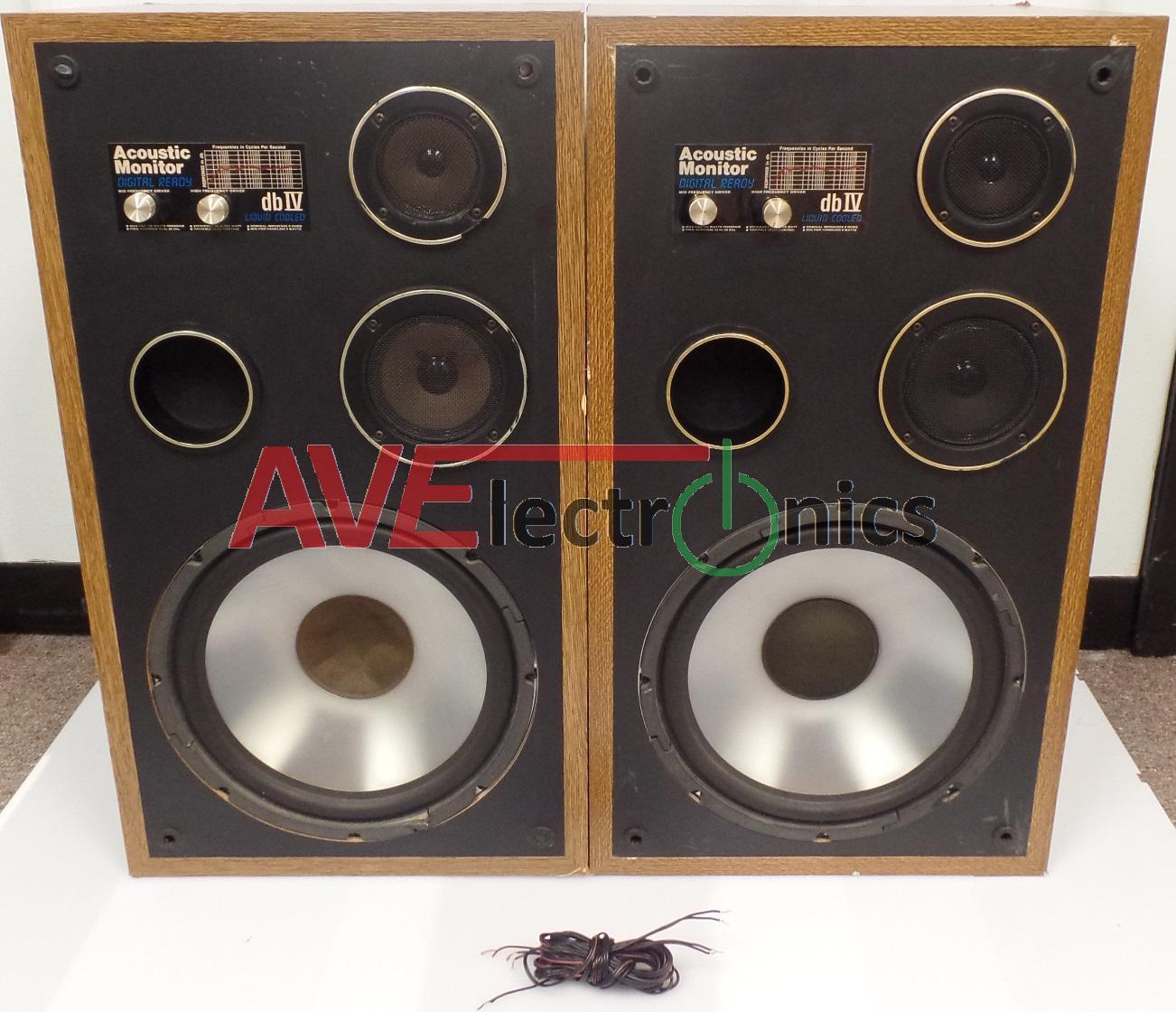 One pair (2 speakers) Acoustic Monitor Digital Ready Speakers dbIV