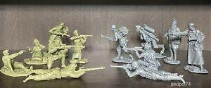 Soldatini di Plastic Platoon Cecchini sovietici contro cecchini tedeschi 1:32