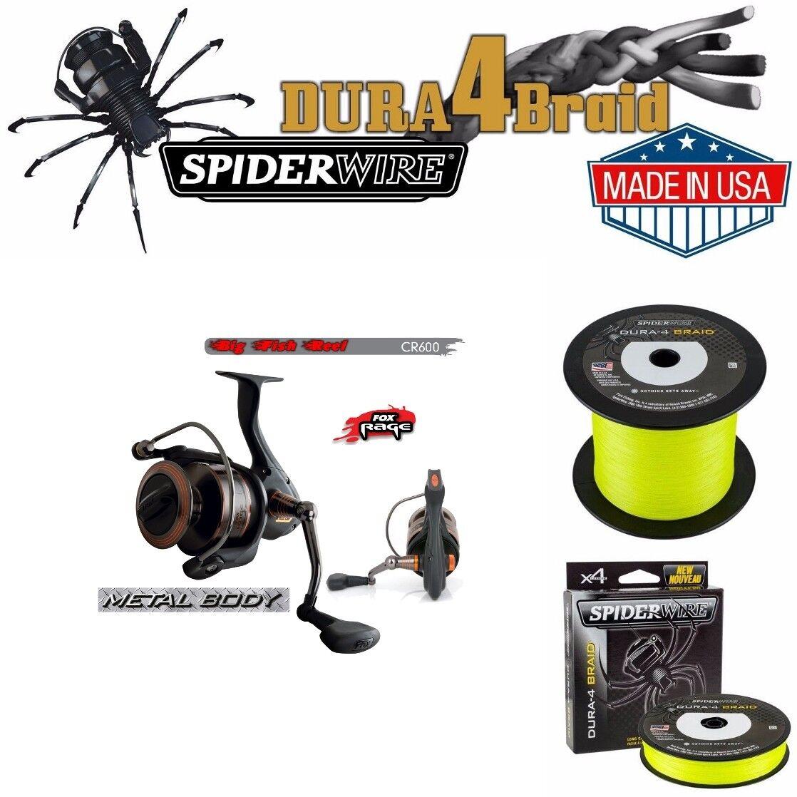 Fox Rage cr600  280m SPIDERWIRE 45 kg