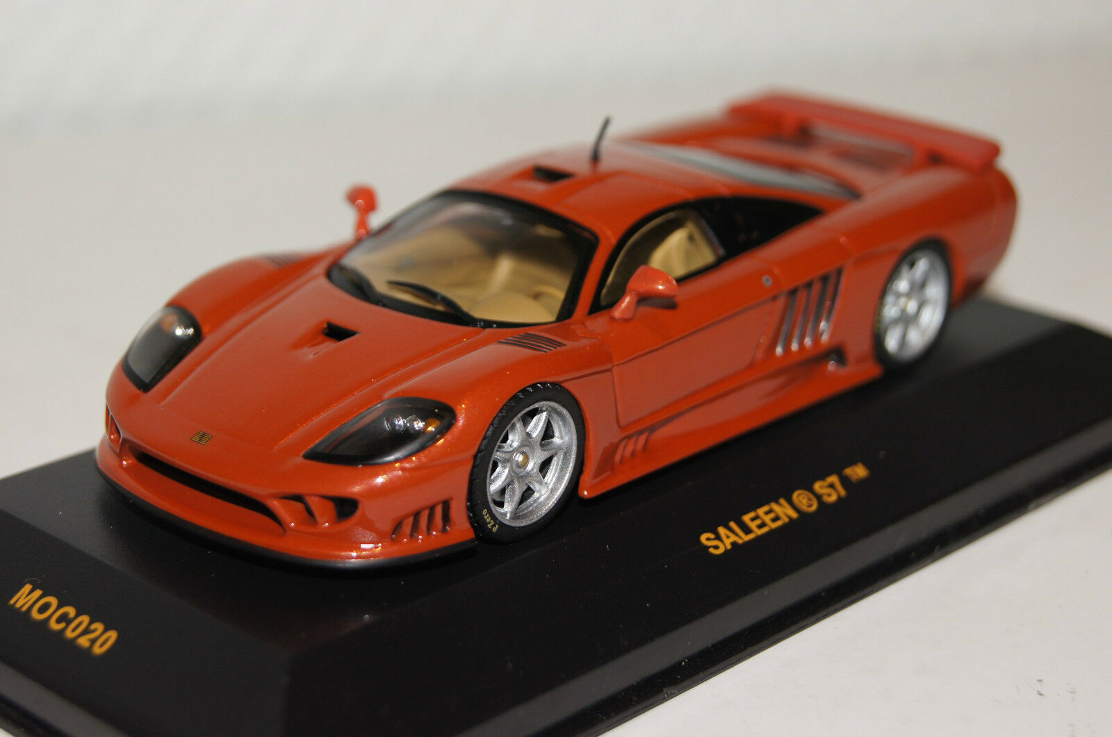 Saleen S7 Orange metallic 1 43 Ixo neu & OVP MOC020  | Haltbarer Service