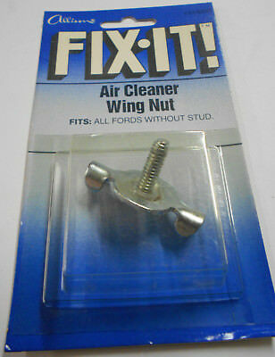 """1//4/""""-20 by 6/"""" Threaded Rod /& Air Cleaner Wing Nut Chrome Tri Bar Hold Down"""