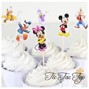 12x-Mickey-Minnie-Mouse-Friends-CUPCAKE-TOPPER-Party-Supplies-Lolly-Loot-Bag