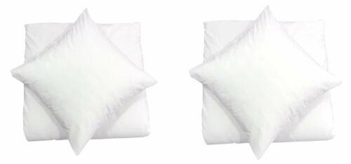 4 teilige Uni Bettwäsche 135 x 200 cm weiß Einfarbig Renforce Baumwolle Garnitur