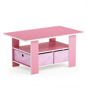 Fantastic Details About Furinno Home Living Coffee Table With Storage Bin Drawers And Shelf In Pink Wood Bralicious Painted Fabric Chair Ideas Braliciousco