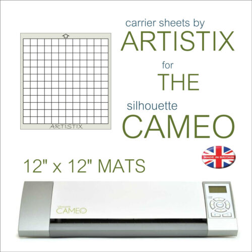 "12/"" x 12/"" Carrier Sheet Cutting Mat For The Graphtec Silhouette Cameo Artistix"