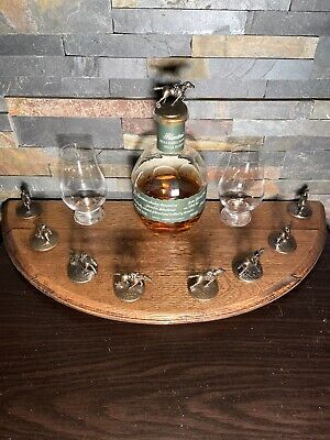 Blantons Bourbon Cork Display From a Bourbon Barrel Lid Dark Finish