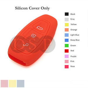 Silicone Cover Holder fit for FORD Fiesta Focus Mondeo Smart Remote Key Case OR