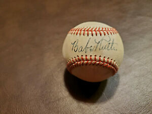 Babe-Ruth-Red-Stitched-Autographed-Baseball-Reprint