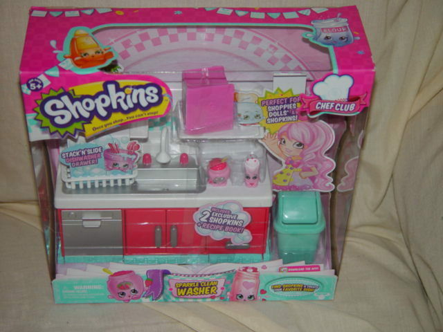 Arandela Shopkins Chef Club Sparkle limpio con 2 exclusivo Shopkins
