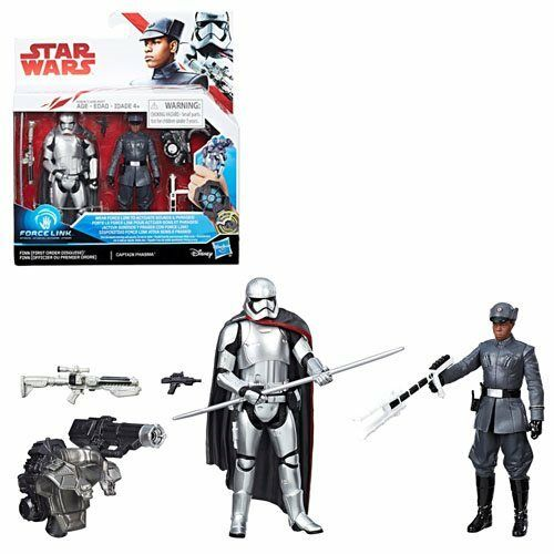 The Last Jedi Finn vs Star Wars Phasma 3 3//4-Inch Figures NEW!