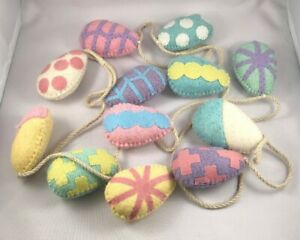Easter-Egg-Garland-6-039-NEW-Spring-Decorations-NEW-Easter-Garland-100-Wool-Eggs